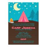 "Camping Party Invitation 5"" X 7"" Invitation Card"
