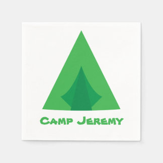 Camping Party Paper Napkin