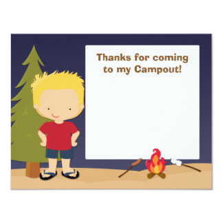 Camping Party Thank You Card Invites