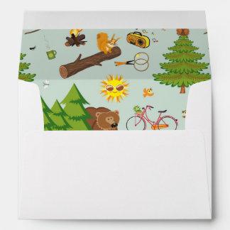 Camping Pattern Envelope