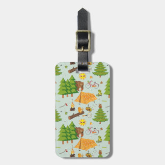 Camping Pattern Tag For Bags