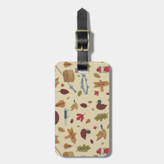 Camping Pattern Luggage Tag