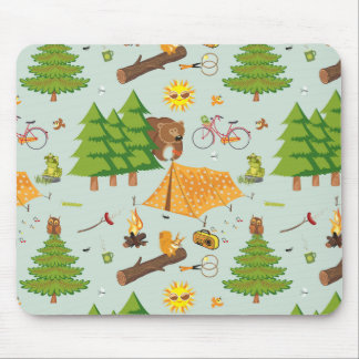 Camping Pattern Mouse Pad
