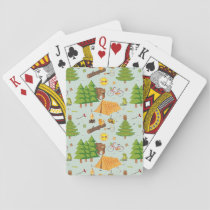 Camping Pattern Playing Cards