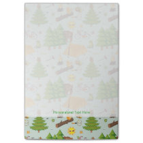 Camping Pattern Post-it Notes