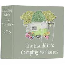 Camping Photo Album 3 Ring Binder