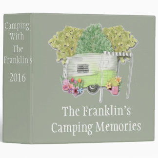 Camping Photo Album 3 Ring Binder