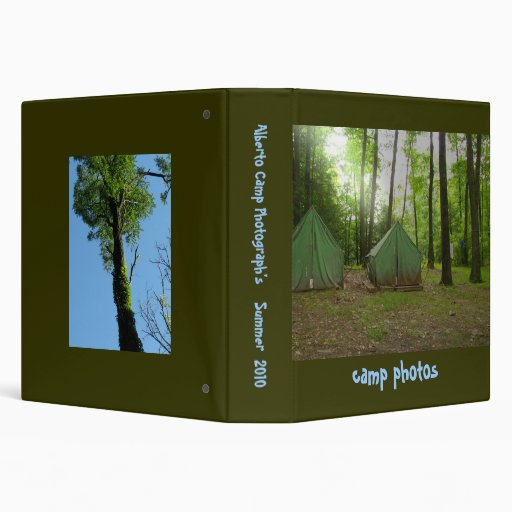Camping Photo Album Vinyl Binders