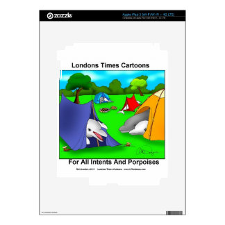 Camping Porpoises Funny Pun-Lovers iPad 3 Skins