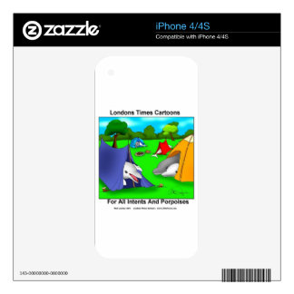 Camping Porpoises Funny Pun-Lovers Skins For The iPhone 4S