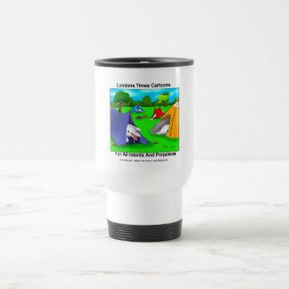 Camping Porpoises Funny Pun-Lovers Travel Mug
