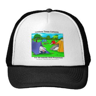 Camping Porpoises Funny Pun-Lovers Trucker Hat