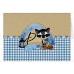 camping Raccoons Letter P Card