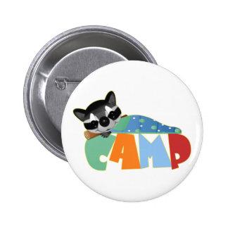 Camping Racoon Pins