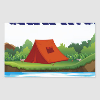 Camping Rectangular Sticker
