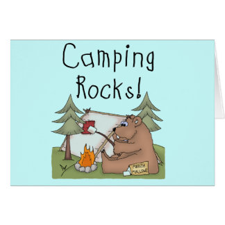 Camping Rocks Greeting Card