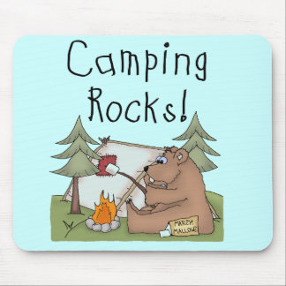 Camping Rocks Mouse Pad