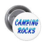 CAMPING ROCKS PINBACK BUTTON