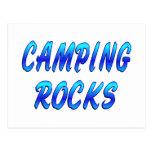 CAMPING ROCKS POST CARD