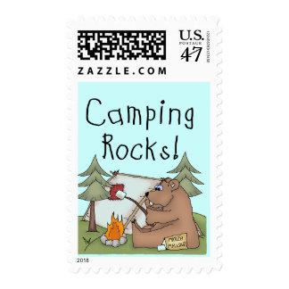 Camping Rocks Postage Stamp