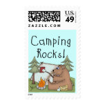Camping Rocks Postage Stamps