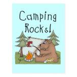 Camping Rocks Postcard