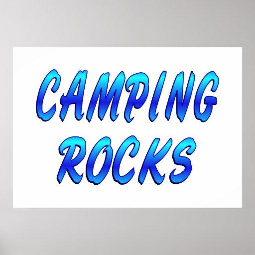 CAMPING ROCKS POSTER