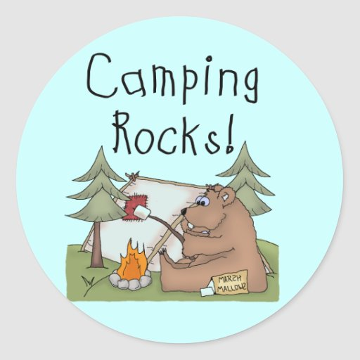 Camping Rocks Stickers