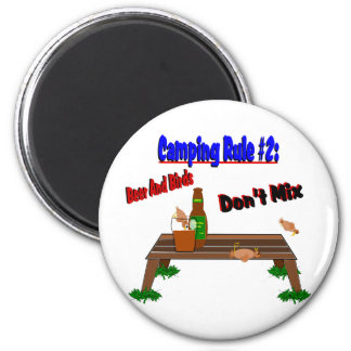 Camping Rule #2 2 Inch Round Magnet