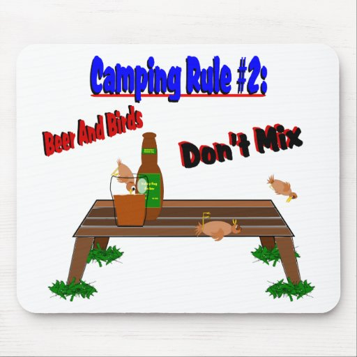 Camping Rule #2 Mouse Pad