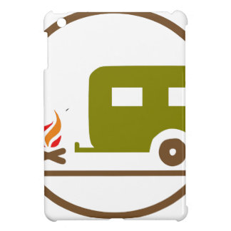 Camping RV Trailer And Campfire iPad Mini Cover