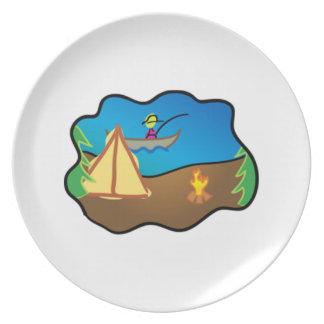 Camping Scene Dinner Plate