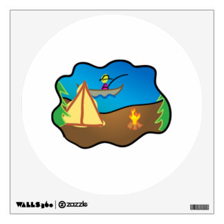 Camping Scene Wall Decals