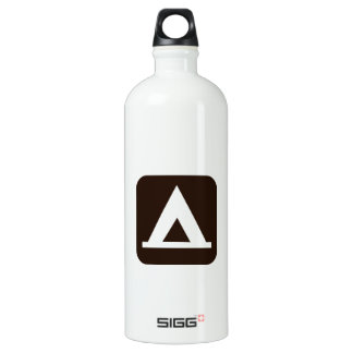 Camping Sign Symbol Water Bottle