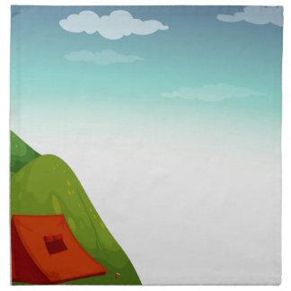 Camping site cloth napkin