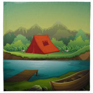 Camping site napkin