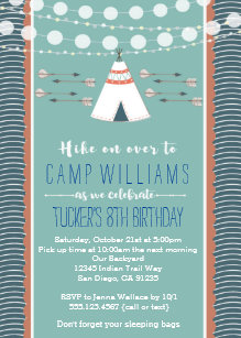 Camping birthday invitations zazzle camping sleepover boy birthday invitation filmwisefo