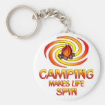 Camping Spins Keychain