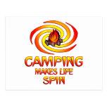 Camping Spins Postcard