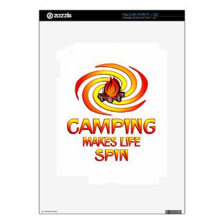 Camping Spins iPad 2 Decal