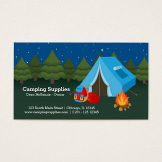 Camping supply store business card