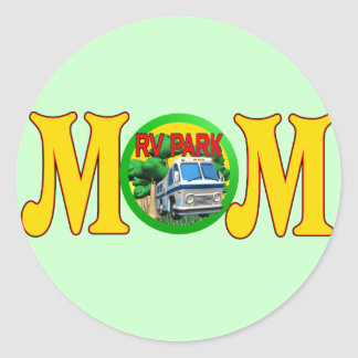 Camping T-shirts and Gifts For Mom Classic Round Sticker