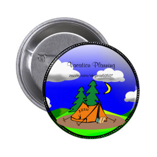 Camping Template Button/Lapel Pin