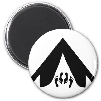 camping tend couple 2 inch round magnet