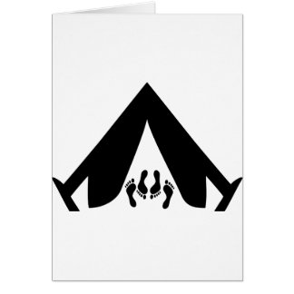 camping tend couple card