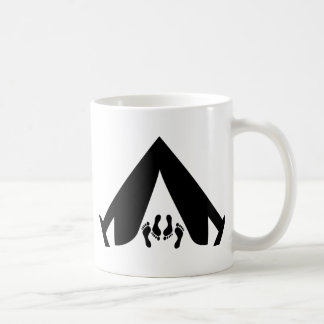 camping tend couple coffee mug