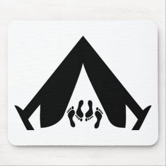 camping tend couple mouse pad
