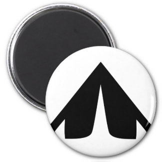 camping tend icon 2 inch round magnet
