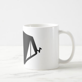 camping tend icon coffee mug