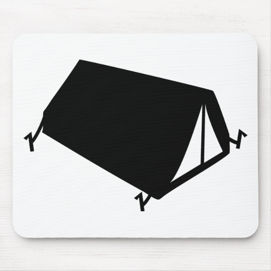 camping tend icon mouse pad
